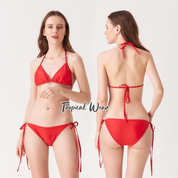 ชุดบิกินี่สีแดง bikini ชุดว่ายน้ำ ชุดว่ายน้ำทูพีช ชุดว่ายน้ำราคาถูก ชุดว่ายน้ำวันพีช ชุดว่ายน้ำสไตล์เกาหลี ชุดว่ายน้ำเก็บก้น ชุดว่ายน้ำเข้ารูป ชุดว่ายน้ำแขนยาว ชุดว่ายน้ำแนวสปอร์ต บิกินี่ บิกินี่ทูพีช บิกินี่เซ็กซี่ บิกินี่เอวสูง บิกินี่เเนววินเทจ