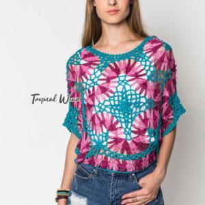 เสื้อเบลาส์ไหมพรมถัก สีสันสดใส