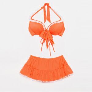 ชุดว่ายน้ำสีส้มน่ารักๆ