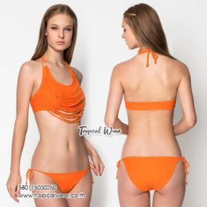 ชุดว่ายน้ำสีส้มพร้อมส่ง
